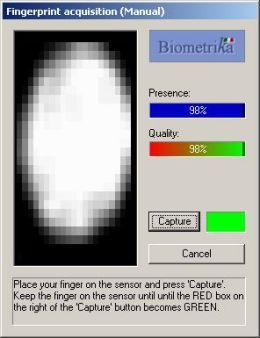 Biometrika - Fingerprint scanners for system and network log on